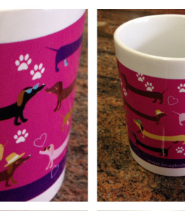 pink mug dachs